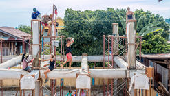 Architects Team Up with Khmer Women to Build a Community Centre with Fabric and Concrete