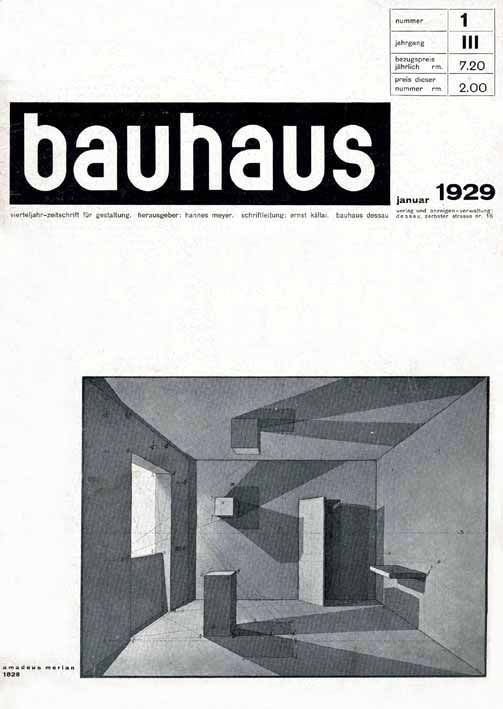 bauhaus: zeitschrift für gestaltung 3:1. Image vía Monoskop