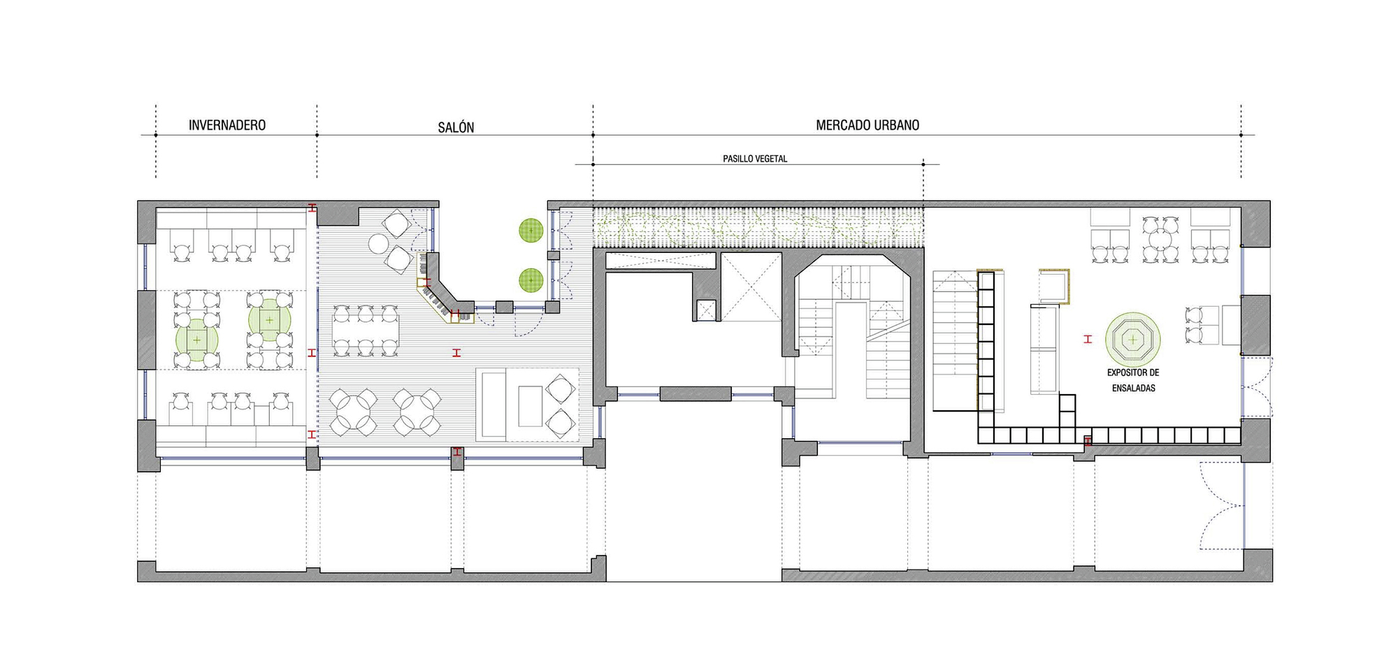Gallery of gust restaurant zooco estudio 10 for Restaurant floor plans with dimensions