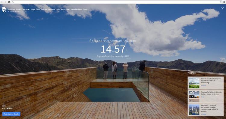 Extensão do ArchDaily para o Google Chrome: Inspiração a cada nova aba