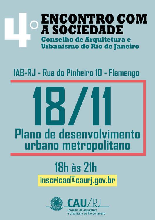 4º Encontro com a Sociedade do CAU/RJ discute Plano de Desenvolvimento Urbano Metropolitano