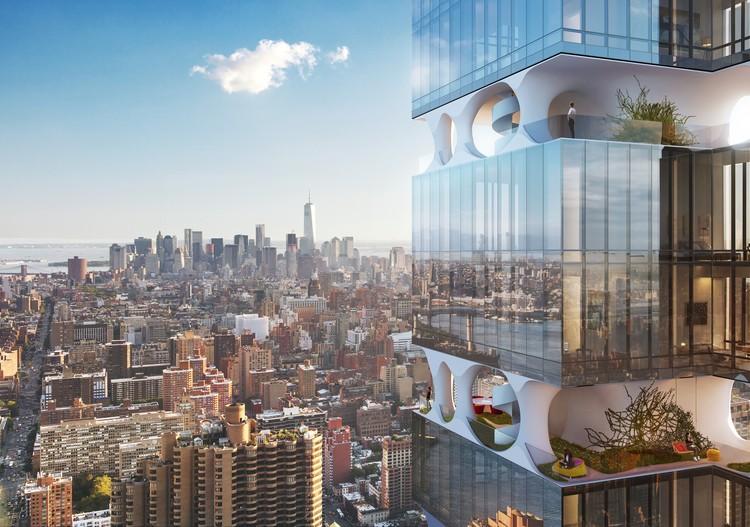 ODA divulga projeto de arranha-céu em Manhattan, © Moso Studio