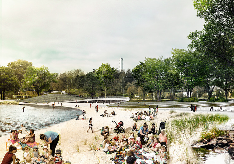 "COBE and Lundén Architecture Envision Transformation of Helsinki's Töölönlahti Bay into ""Citizens' Park"", © COBE and Lundén Architecture"