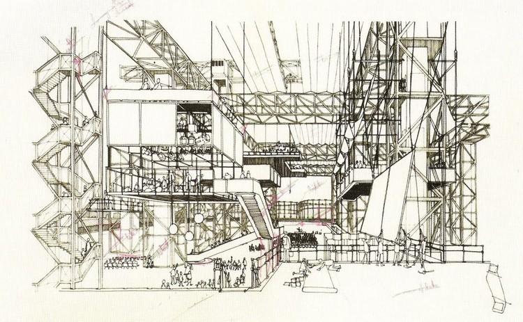 Arquitetos que não são 'arquitetos': Quais são os grupos que trabalham na fronteira da arquitetura?, Fun Palace, por Cedric Price (1961). Image via leoniewelling.nl
