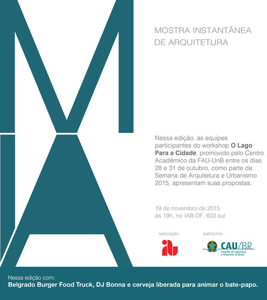 Mostra Instantânea de Arquitetura apresenta propostas para Brasília, via IAB-DF