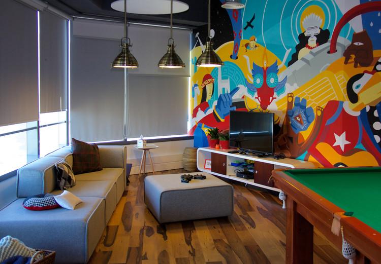 Entorno colaborativo: oficinas de Google en Santiago de Chile, Cortesía de Google Chile