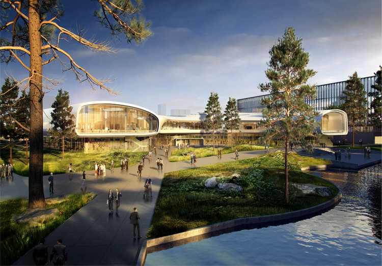 Ennead Architects Design Huawei Research Center in Wuhan, China, Courtesy of Ennead Architects