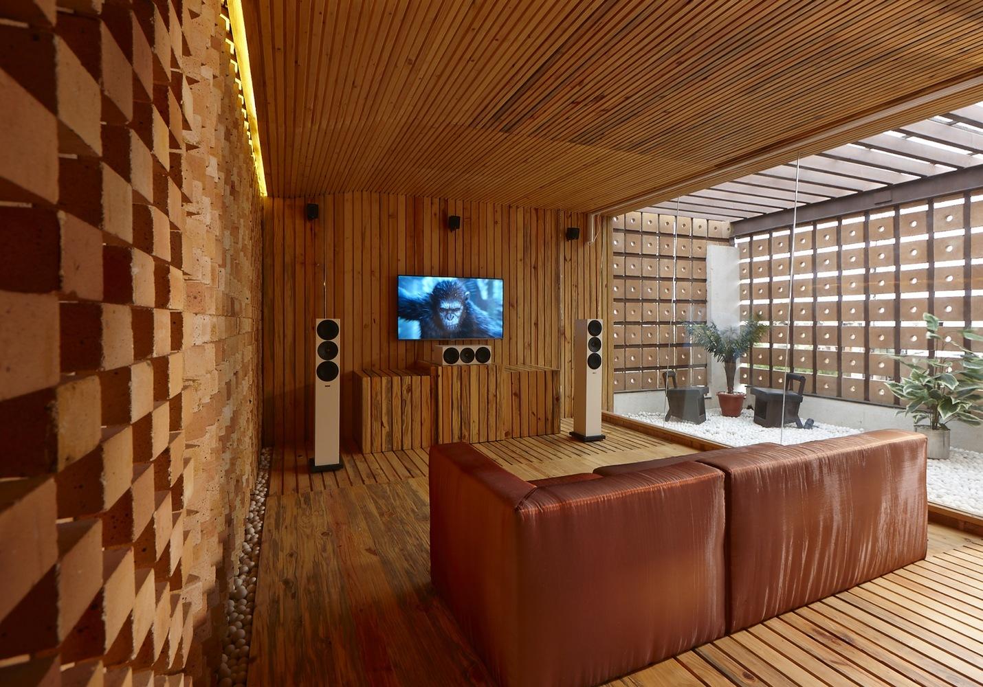 Home Theatre Studio InteriorCourtesy of Sfurna Designs