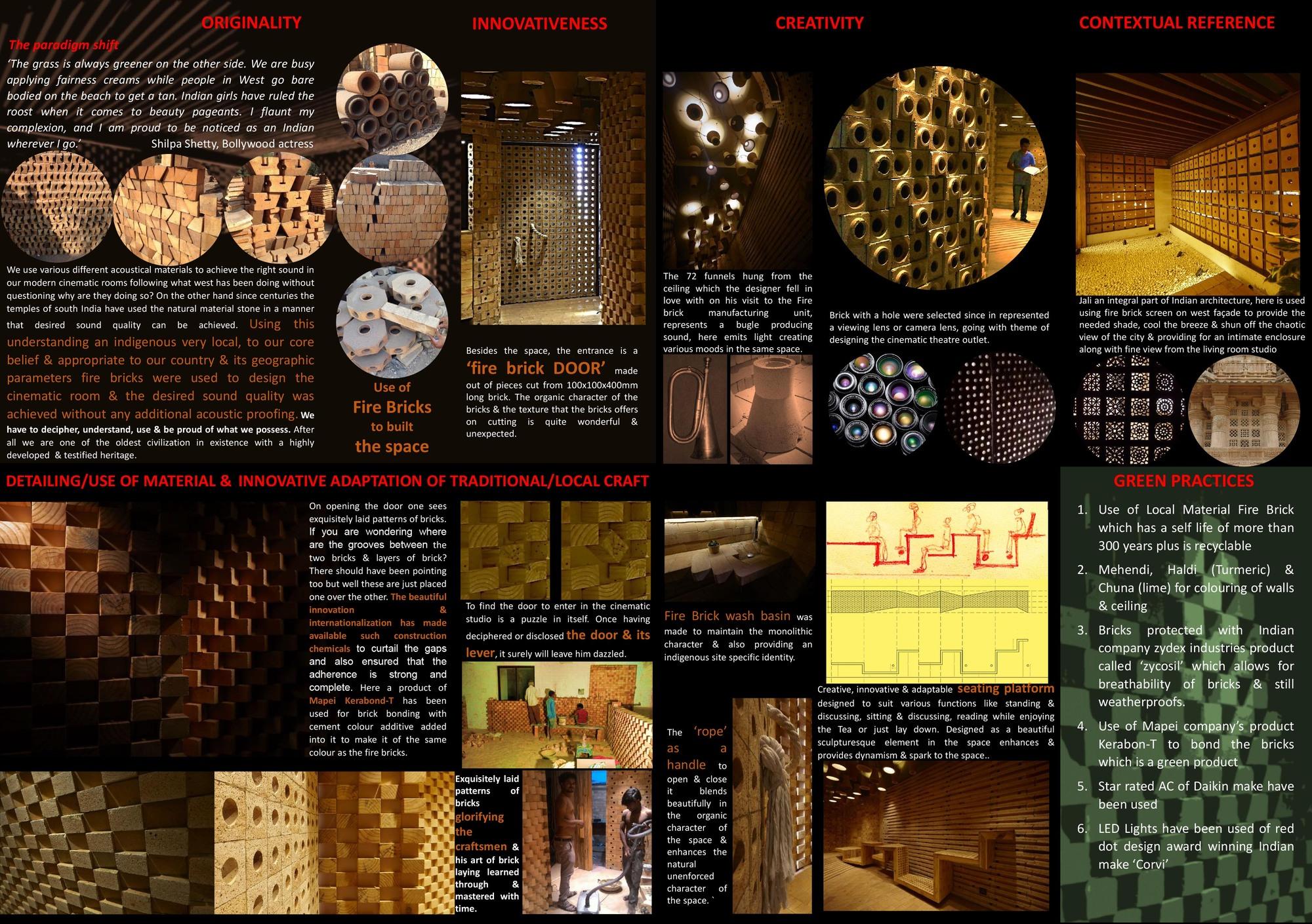 Gallery of home theatre studio interior sfurna designs 24 for Interior design with waste material
