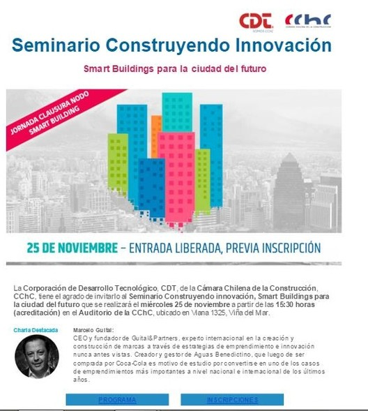 """Seminario """"Construyendo Innovación: Smart Building para la ciudad del Futuro"""", Nodo Smat Building Valparaíso"""