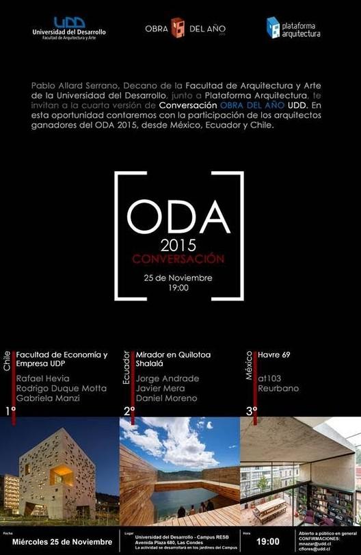 #ODA15: Conversación Obra del Año 2015 en UDD