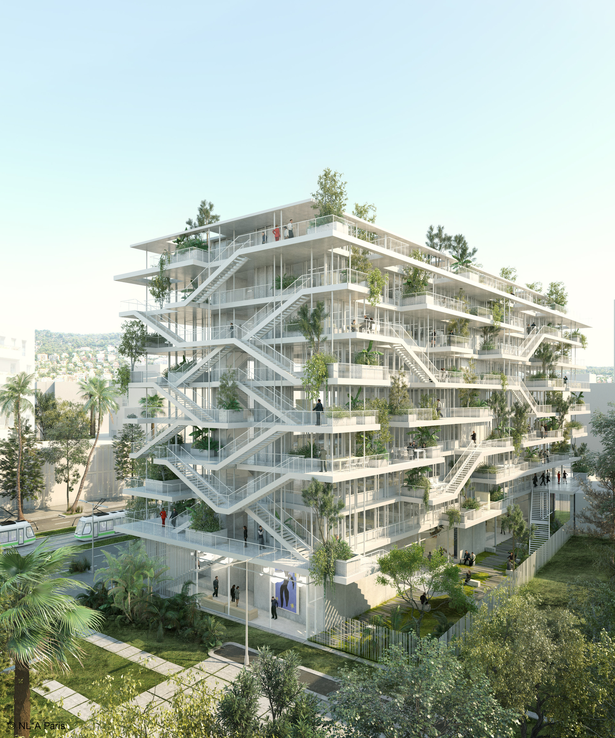 NL*A Reveals Plans For Open-Concept Green Office Building