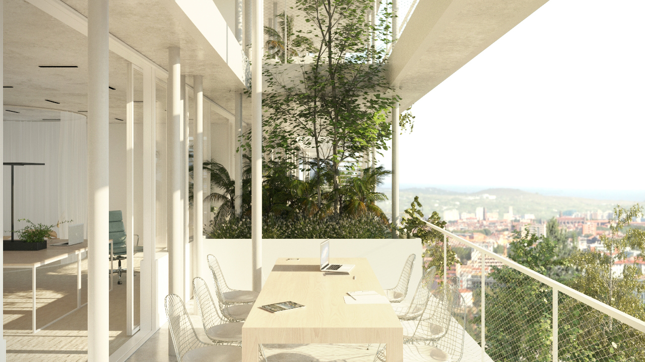 Gallery of NL*A Reveals Plans for Open-Concept Green Office Building ...