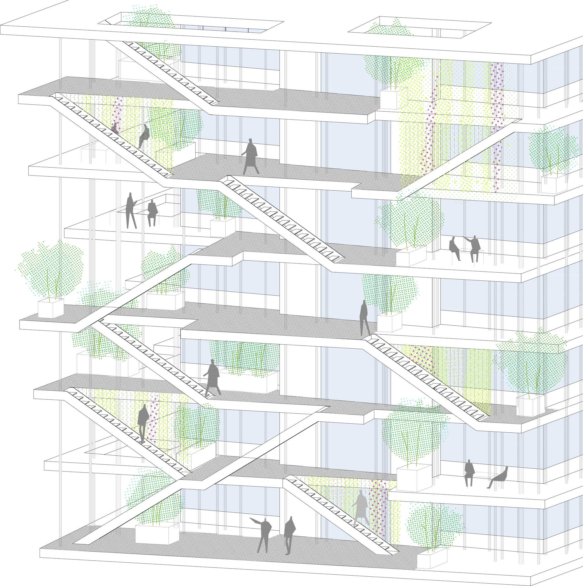 Gallery of nl a reveals plans for open concept green for Building architecture plan