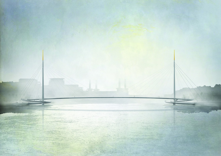 Bystrup Wins Nine Elms Bridge Competition, © Bystrup Architecture, Design and Engineering