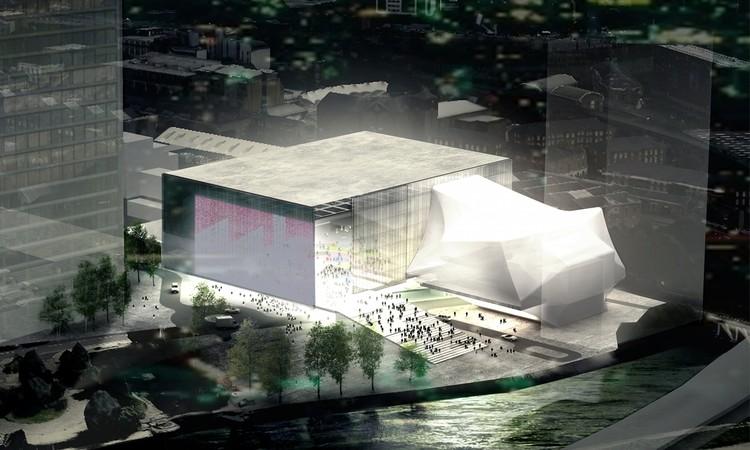 """OMA é selecionado para projetar """"The Factory"""", seu primeiro edifício público no Reino Unido, Proposta do OMA para 'The Factory'. Imagem © OMA"""