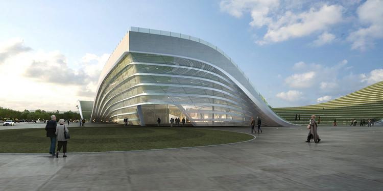 Emblema Águila - Centro Ciudadano de Otog / KUAN Architects, Cortesía de KUAN Architects