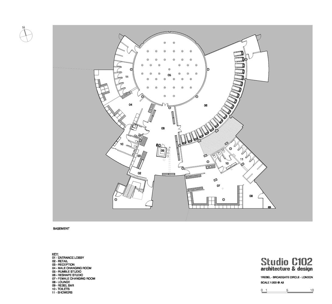 gallery of rebel gym studio c102 27 rebel gym basement floor plan