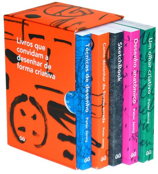 Coleção Peter Jenny - Livros que convidam a desenhar de forma criativa  + SketchBook , © Editora Gustavo Gili Brasil
