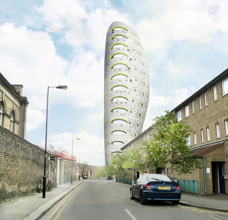 aLL Design Reveals Plans for Residential Tower in South London, © aLL Design