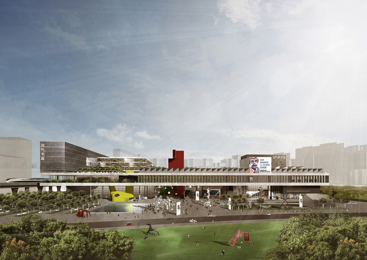 OPEN's Competition Entry for New Shenzhen Art Museum and Library, Courtesy of Open Architecture