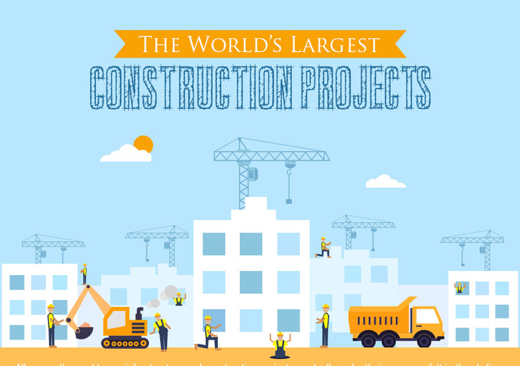The World's Largest Current Construction Projects, via Foam Fabricators