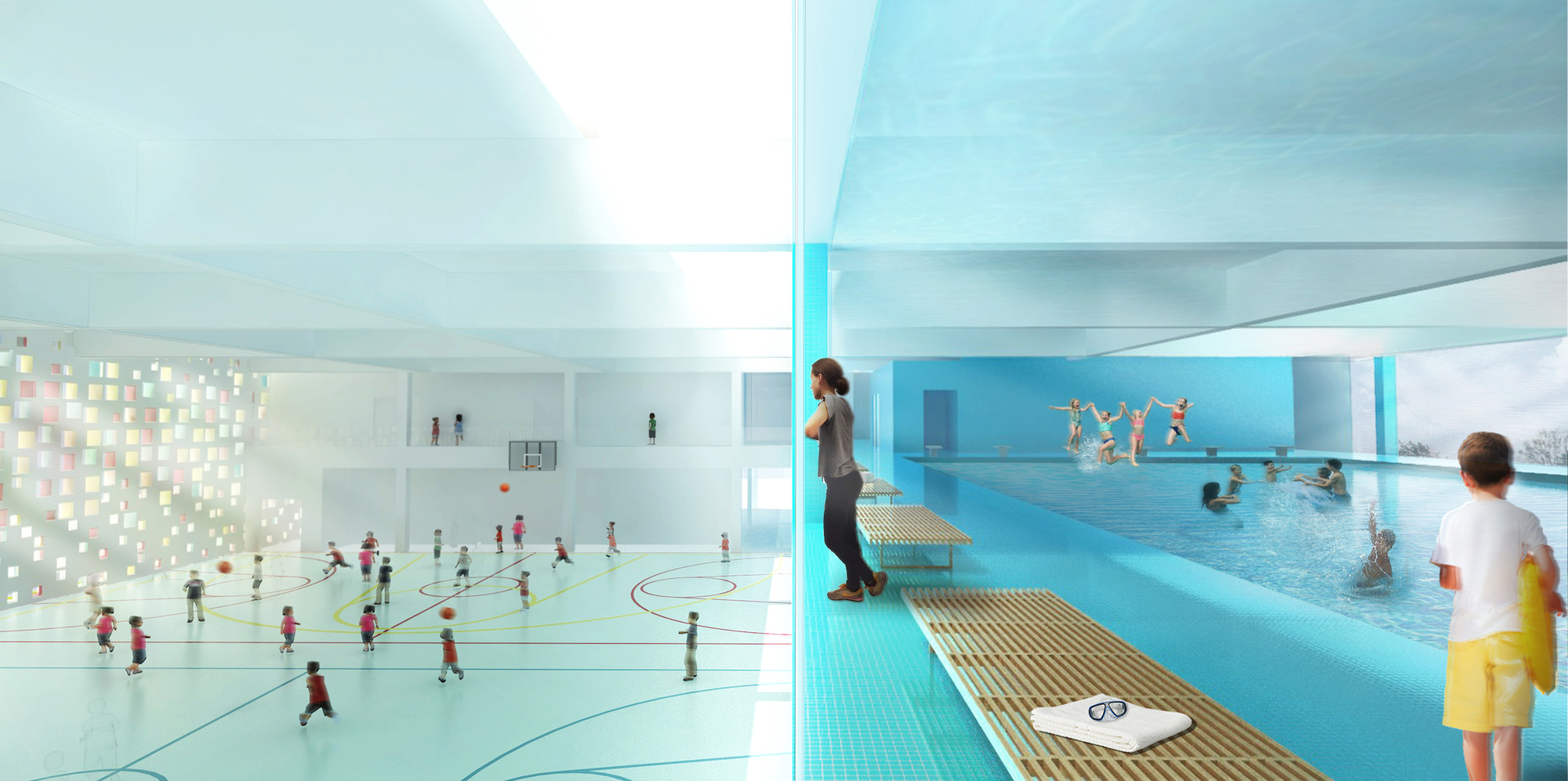 Gallery of henning larsen architects designs french for Pool design education
