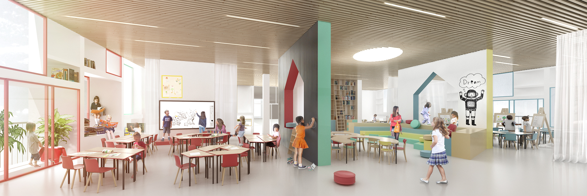 Virtual Classroom Architecture Design ~ Gallery of henning larsen architects designs french