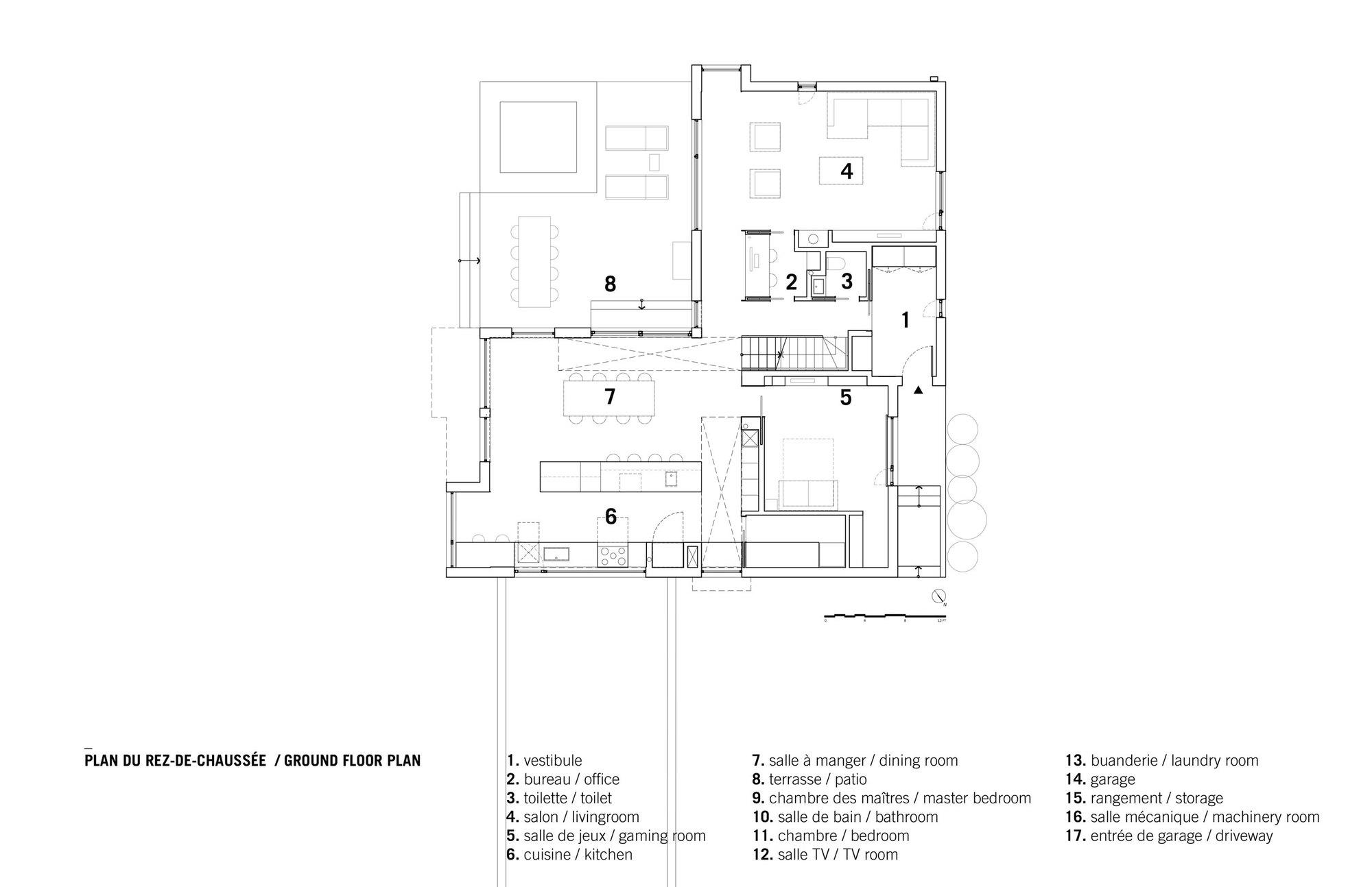 Wonderful Bic Residence / NatureHumaine. Ground Floor Plan
