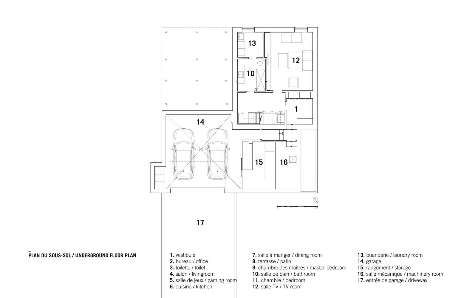 Cool Underground Floor Plan. Bic Residence Underground Floor Plan Gallery of  NatureHumaine 16