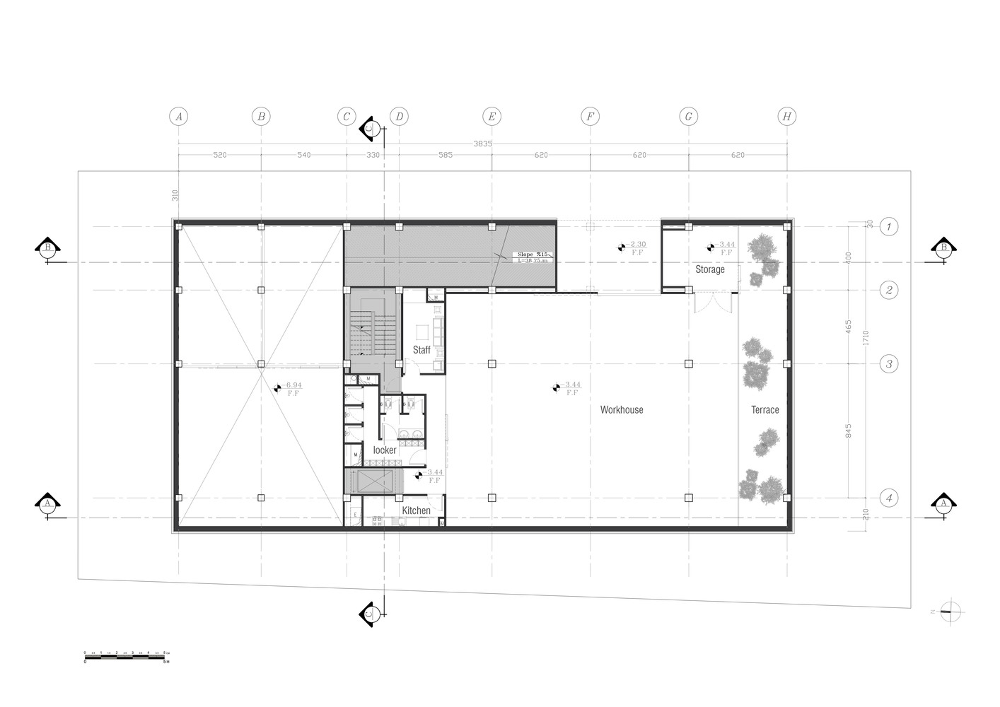 New Wave Architecture Designs Sustainable Office Building For Turbosealtech  In Iran,Basement Floor Plan