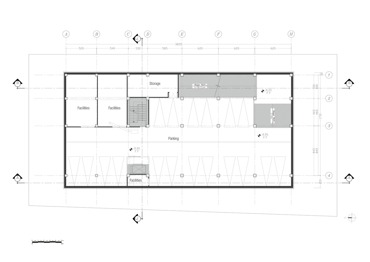 New Wave Architecture Designs Sustainable Office Building For Turbosealtech  In Iran,Second Basement Floor Plan
