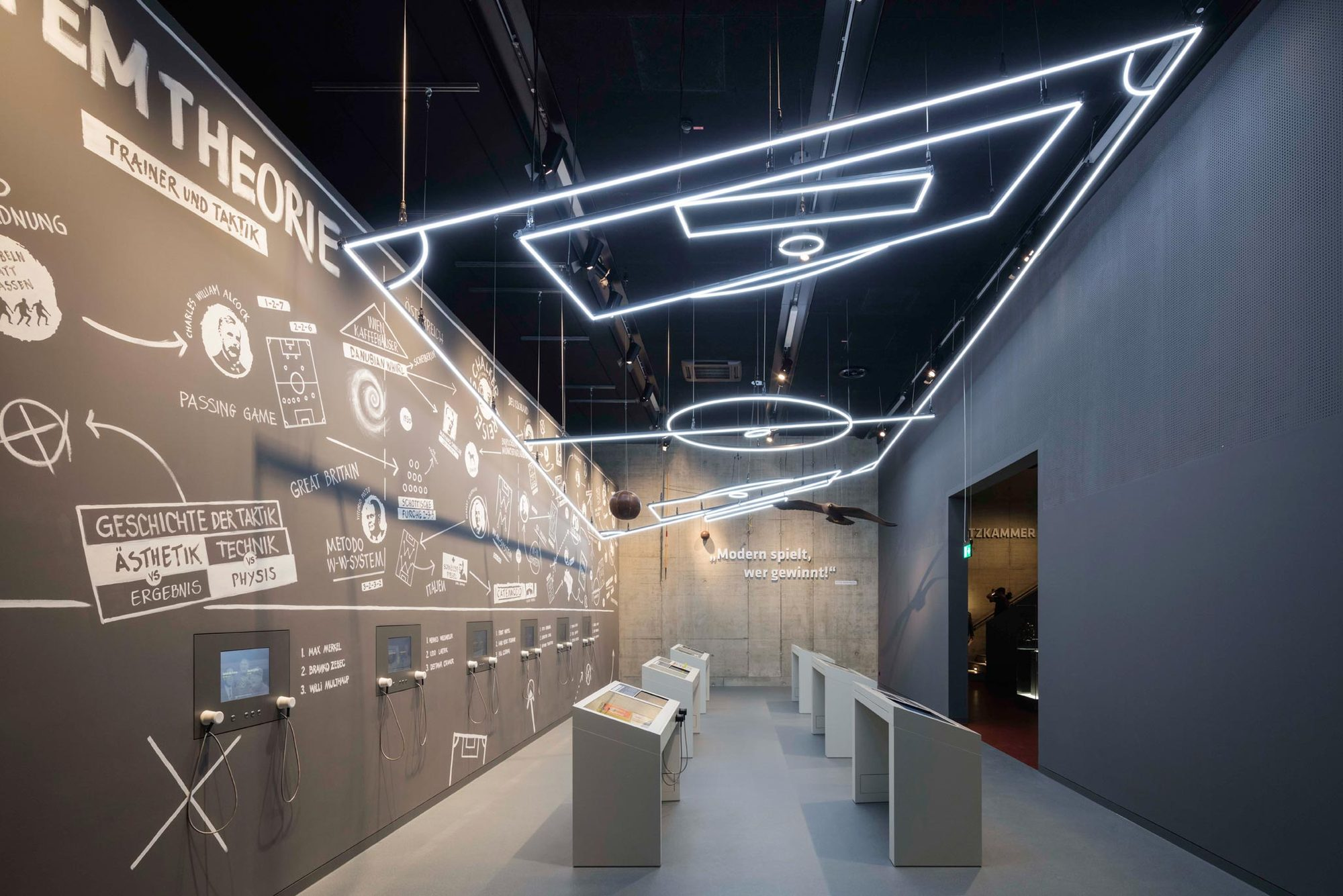 Exhibition Light D Model : Gallery of german football museum hpp architects
