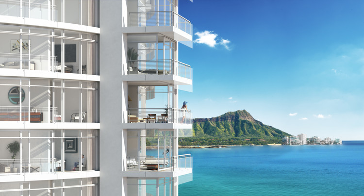 With Ward Village, Richard Meier and Bohlin Cywinski Jackson Bring Signature Architecture to Honolulu, Gateway Towers / Richard Meier & Partners. Image © The Howard Hughes Corporation