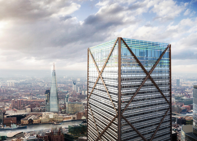 Eric Parry Architects Unveil 73-Storey Tower for London's Financial District, 1 Undershaft / Eric Parry Architects. Image © DBOX for Eric Parry Architects