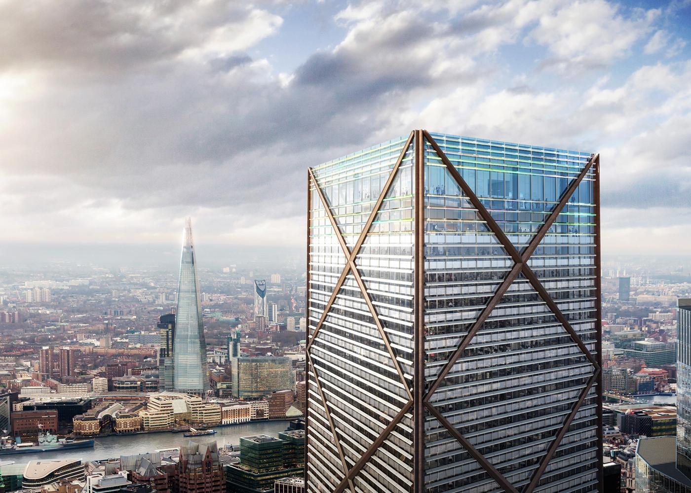 architecture blueprints skyscraper. Brilliant Blueprints Eric Parry Architects Unveil 73Storey Tower For Londonu0027s Financial  District1 Undershaft  In Architecture Blueprints Skyscraper R
