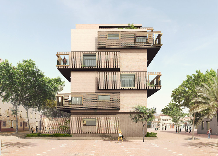 'De peus a terra', un nuevo proyecto de vivienda social que se construirá en Barcelona, Cortesía de Estudio UNTERCIO y Miel Arquitectos