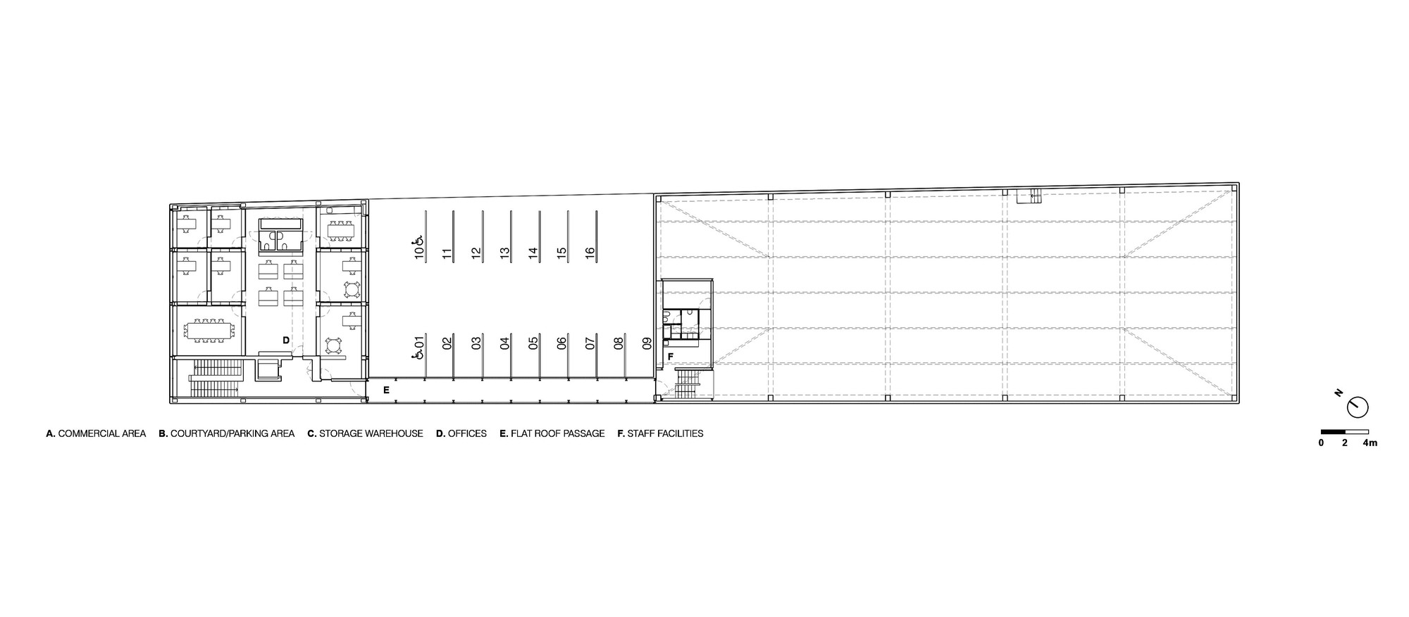 Gallery of ad mia office building and industrial warehouse for Warehouse building plans