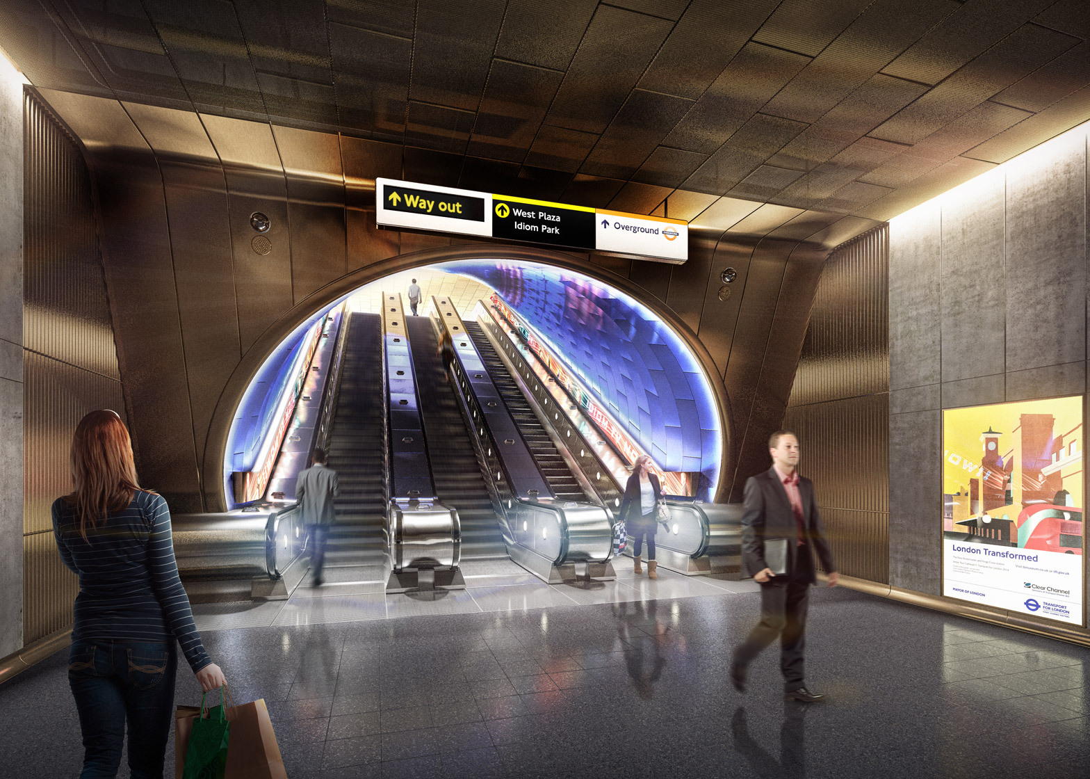 A Vision For Future London Underground Stations Archdaily