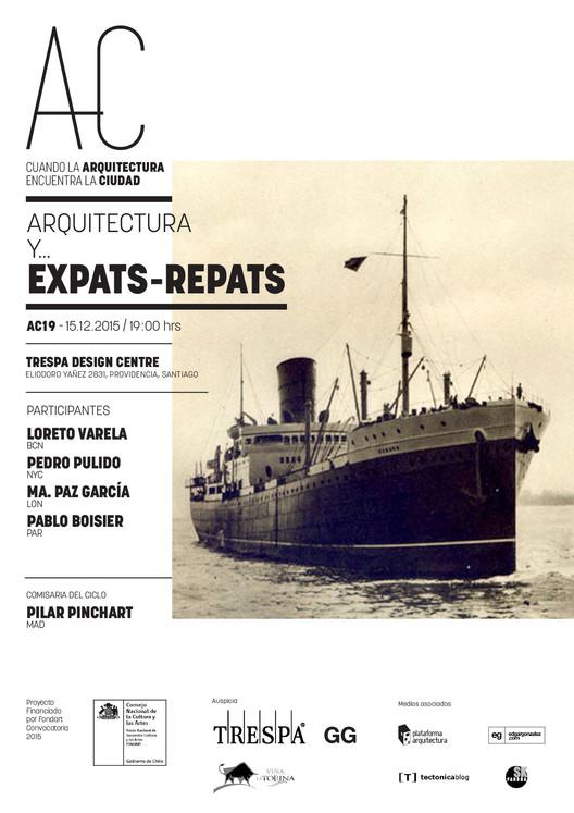 """'Arquitectura expats-repats', nueva sesión de """"Cuando la Arquitectura Encuentra la Ciudad"""" / Santiago"""