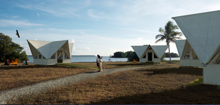 University of Miami Hosts Sustainability Workshop for High School Students, Eco-Tent Shelter Prototype for the Everglades National Park, Florida, Design/Build, 2012 by UM School of Architecture. Image Courtesy of University of Miami School of Architecture