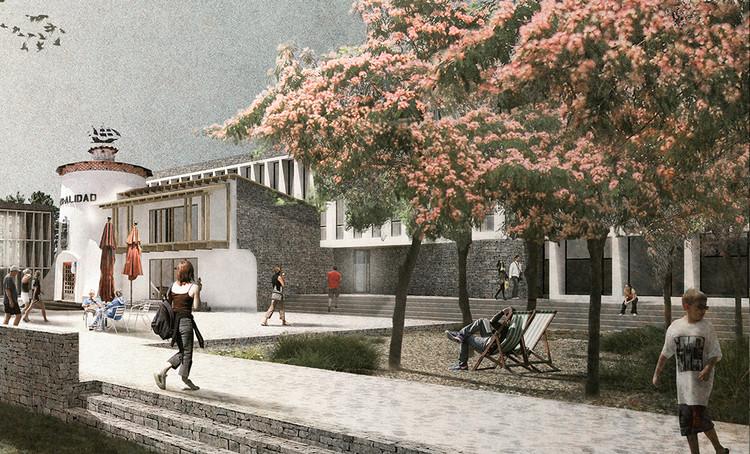 Duque Motta + Livingstone + Jadue, segunda mención en concurso Edificio Consistorial de Papudo, Cortesía de Equipo Segunda Mención