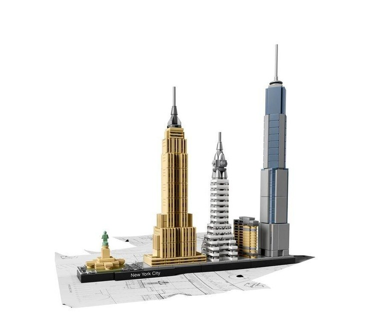 New LEGO® Collection Lets You Recreate Skylines, New York City. Image © LEGO®