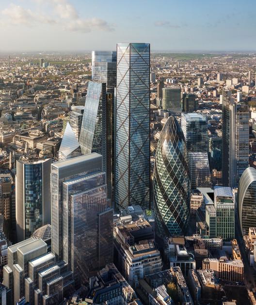 Divulgadas as imagens do segundo maior arranha-céu de Londres, © DBOX para Eric Parry Architects