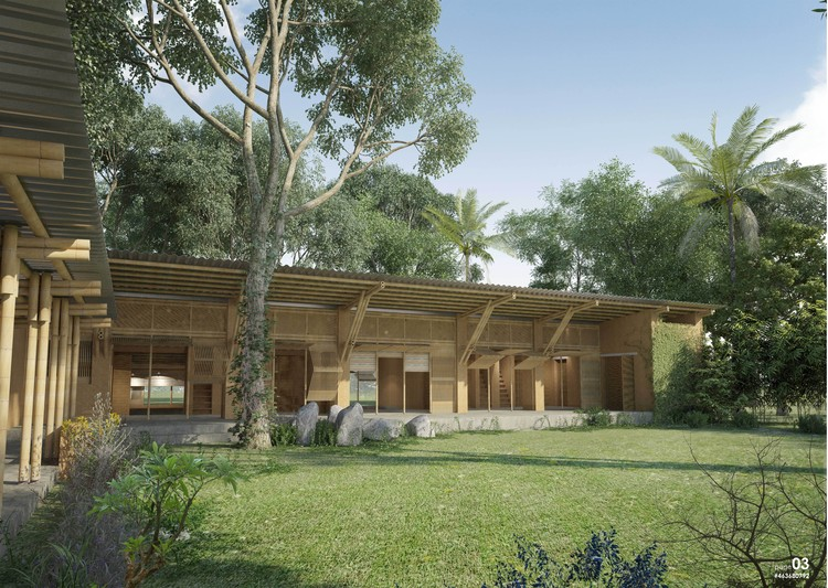 "NKA Foundation anuncia a los ganadores del Concurso de Diseño ""Casa para un Artista"" en Ghana, Primer Lugar: Abode+Abode / Chowdhury Mohammad Junayed, Sheikh Ahsan Ullah Mojumder, and Erum Ahmed, de Sheikh Ahsan Ulla Mojumder & Associates en Bangladesh. Image Courtesy of NKA Foundation"