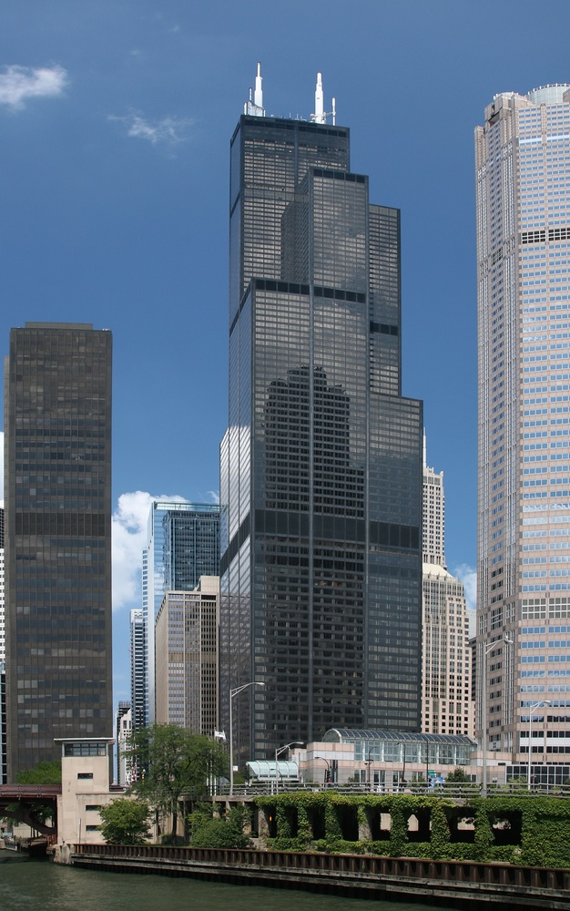 These Are the World's 25 Tallest Buildings,Willis Tower (former Sears Tower). Image © TonyTheTiger [Wikipedia] under license CC BY 2.0