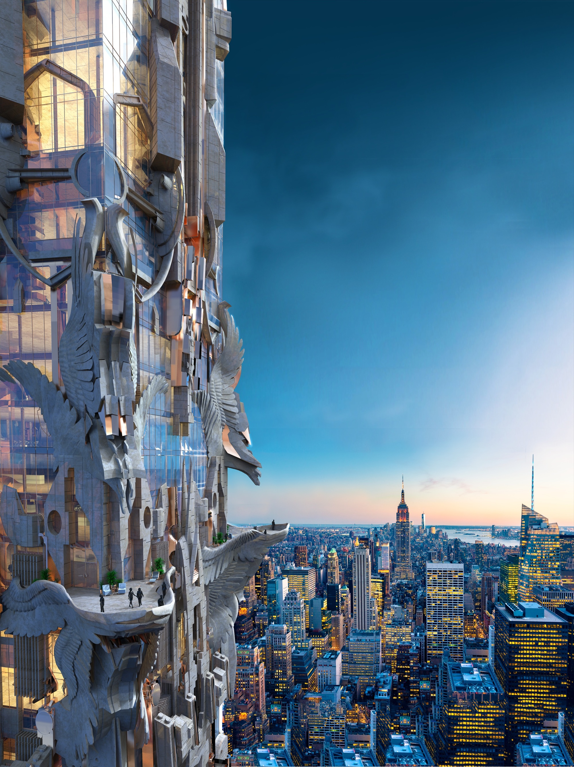 Stunning Mark Foster Gage us Manhattan Skyscraper Takes Gothic Architecture to New Heights ArchDaily