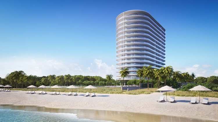 Details Revealed of Renzo Piano's First US Residential Project at Eighty Seven Park in Miami, Courtesy of Terra