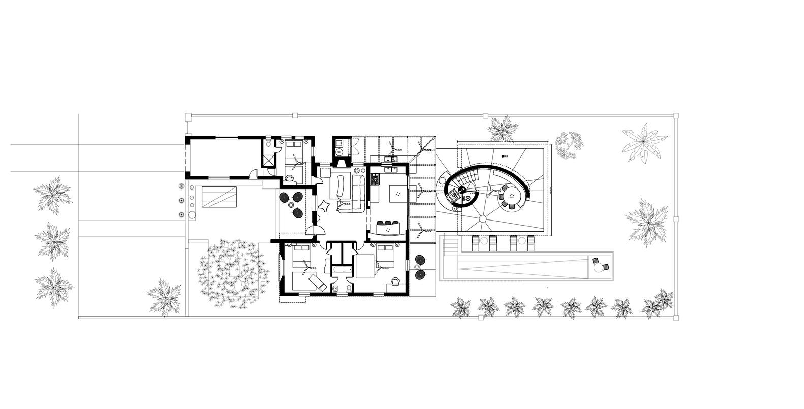 Gallery of sun path house christian wassmann 17 sun path housefirst floor plan pooptronica