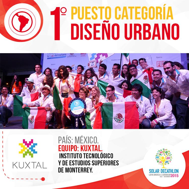 Casa Kuxtal galardonada con primer lugar en Diseño Urbano, Solar Decathlon 2015, vía Solar Decathlon 2015